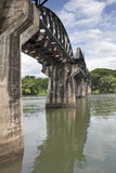 Bridge over River Kwai, Thailand royalty free stock photography
