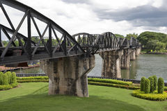 Bridge over River Kwai, Thailand Royalty Free Stock Photo