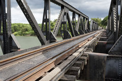 Bridge over River Kwai, Thailand Royalty Free Stock Photos