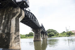 Bridge over the River Kwai in Thailand Stock Photography