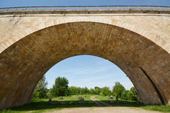 Bridge over the river Le Lot in France Stock Image
