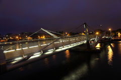 Bridge over River Liffey at night. Stock Photography