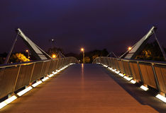 Bridge over River Liffey at night. Stock Images