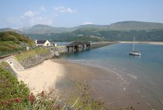 Bridge over River Mawddach Royalty Free Stock Images
