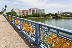 Bridge over the river Meuse in Liege Royalty Free Stock Photo