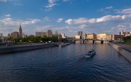 Bridge over river Moskva in Moscow Stock Photos
