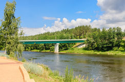 Bridge over the River Neman. Druskininkai Stock Photo
