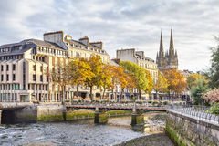 Bridge over river Odet in Quimper,  France Royalty Free Stock Photos