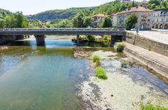 Bridge over the River Osam in Lovech, Bulgaria royalty free stock photo