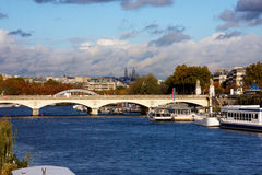 Bridge over river in Paris Stock Photos
