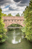 Bridge over the river Pegnitz Stock Images