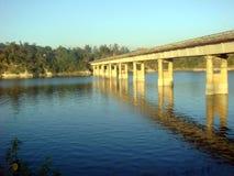 Bridge over the river. Picture of bridge over the river Stock Image