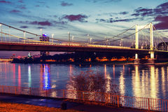 Bridge over the river Rhine Stock Photography