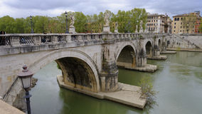 Bridge over river in Rome, Italy stock photography