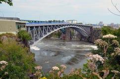 Bridge over river. Bridge over Saint John River in Saint John, New Brunswick, Canada Royalty Free Stock Photos