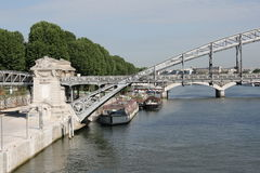 Bridge over the river Seine in Paris Royalty Free Stock Photography