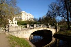 Bridge over the river Slavyanka in Pavlovsk Park. Royalty Free Stock Image
