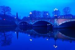Bridge over the river spee in berlin Stock Image