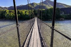 The bridge over the River royalty free stock photography