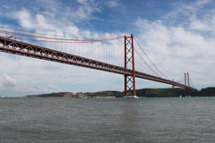 Bridge over river Tejo Royalty Free Stock Photos