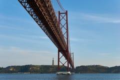 Bridge over the River Tejo stock photos