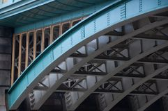 Bridge over the river Thames. A view of the arch of a bridge over the river Thames showing the construction Royalty Free Stock Images
