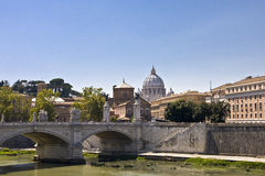 Bridge over the River Tiber Royalty Free Stock Images
