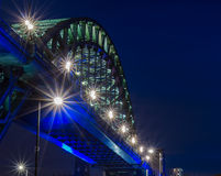 Bridge over the River Tyne at night Stock Photos