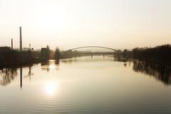 Bridge over the river Royalty Free Stock Photos