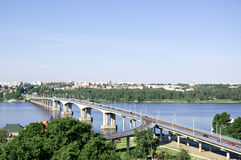 Bridge over the river Volga in Kostroma, Russia Royalty Free Stock Image