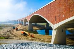 Bridge over river Waal in Nijmegen royalty free stock image