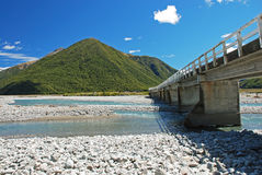 Bridge over the river Waimakariri Royalty Free Stock Photos