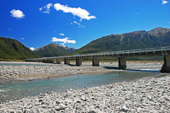 Bridge over the river Waimakariri Royalty Free Stock Images