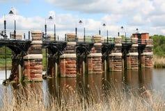 Bridge over River Weaver. Victorian sluice bridge over River Weaver Royalty Free Stock Photography