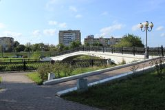 The bridge over the river. Royalty Free Stock Photography