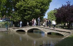 Bridge over the River Windrush. River Windrush in Bourton on the Water Stock Photography