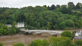 The bridge over the river Wye as seen from stock footage