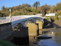 Bridge over the River Wye. The Old Wye Bridge over the River Wye at Chepstow, Monmouthshire, Wales Stock Image