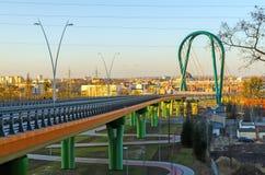 Bridge over a road in Bydgoszcz, Poland. Royalty Free Stock Photos