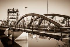 Bridge over Sado river. Alcacer do Sal, Portugal Royalty Free Stock Image