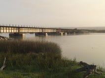 Bridge over Saint Ynez river watershed. Stock Photo