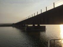Bridge over Saint Ynez river watershed. Royalty Free Stock Photo