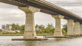 Bridge over Santa Lucia River in Montevideo Uruguay Royalty Free Stock Photo