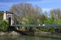 Bridge over saone river Stock Photo
