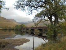 Bridge over Scottish Loch Royalty Free Stock Photography