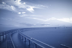 Bridge over the sea Stock Photography
