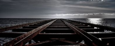 Bridge over the sea royalty free stock photography