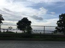 Bridge over the sea. View of the bridge over the sea, on the east side of Panama City Stock Photography