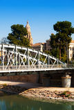 Bridge over Segura river called Nuevo Puente in  Murcia Stock Photos