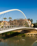 Bridge over Segura river called  Puente de Vistabella. Murcia Royalty Free Stock Photo